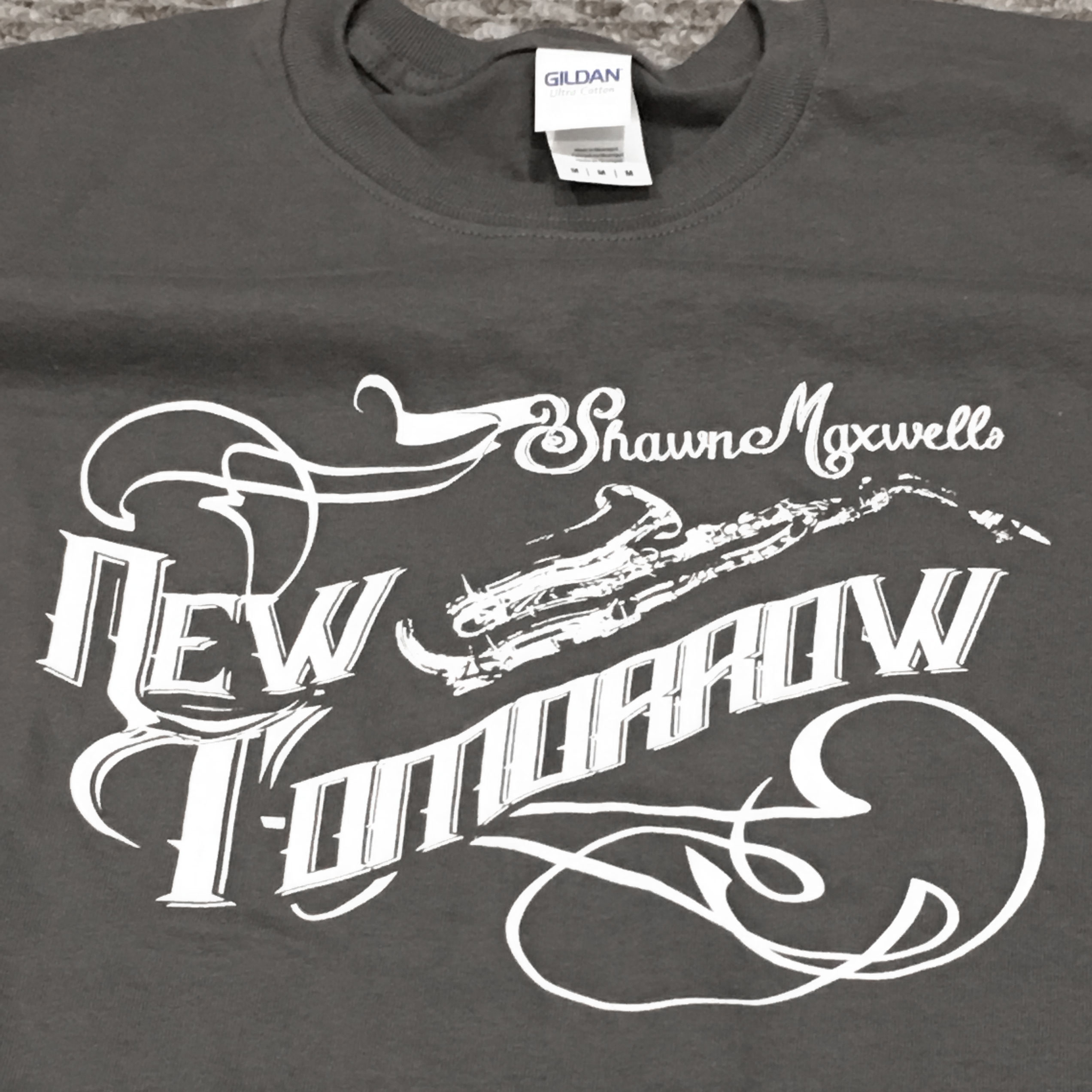 Shawn Maxwell's New Tomorrow T-Shirt Detail